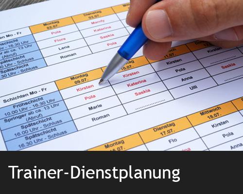 Trainer-Dienstplanung